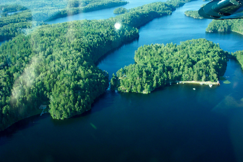 Clearwater Burditt Lake Sunset Country Ontario Canada