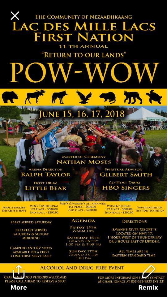 Lac des Mille Lacs First Nation Pow Wow