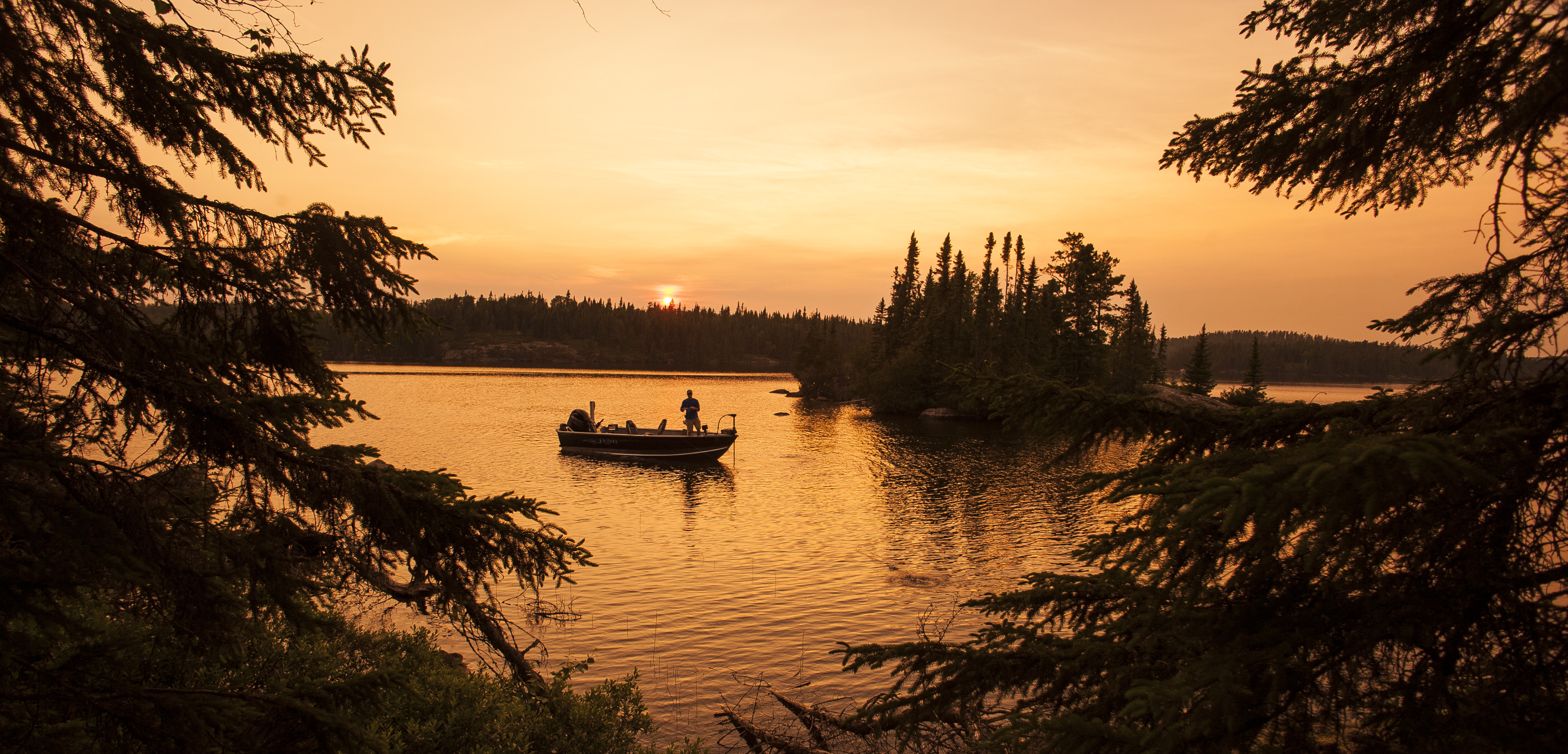 Fishing Sunset Country Ontario Canada