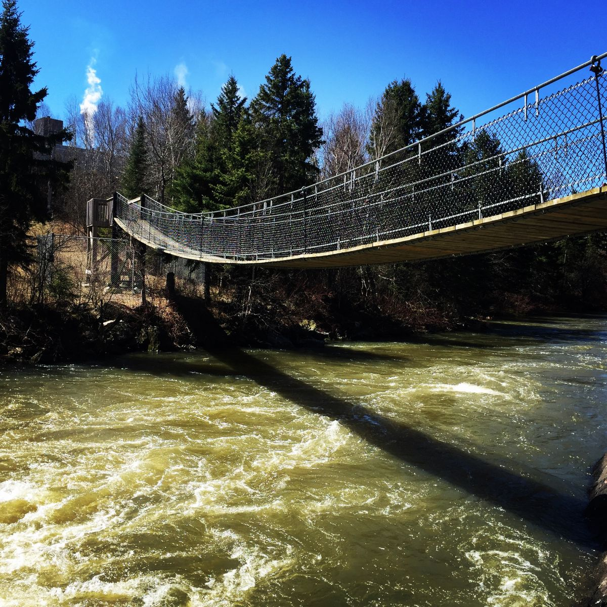 The Roy Wilson Suspension Bridge near Dryden, Ontario
