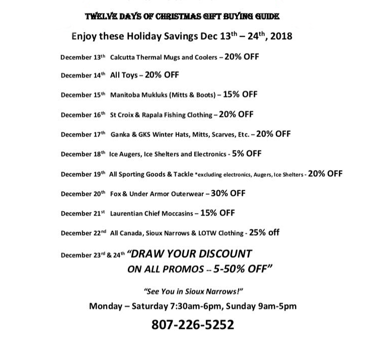 Gill's Trading post 12 Days of Christmas