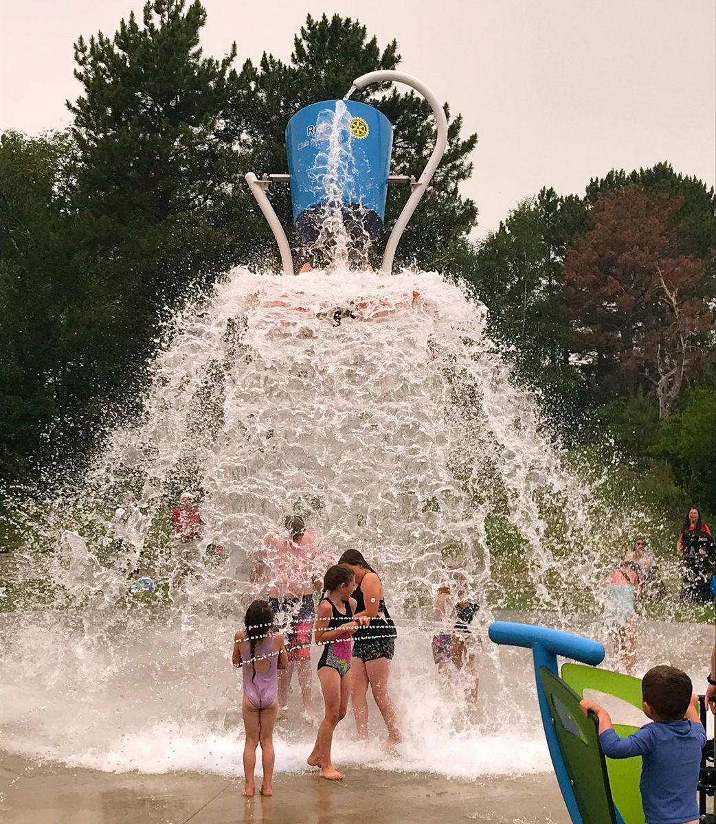 Kenora Rotary Splash Pad Water Bucket