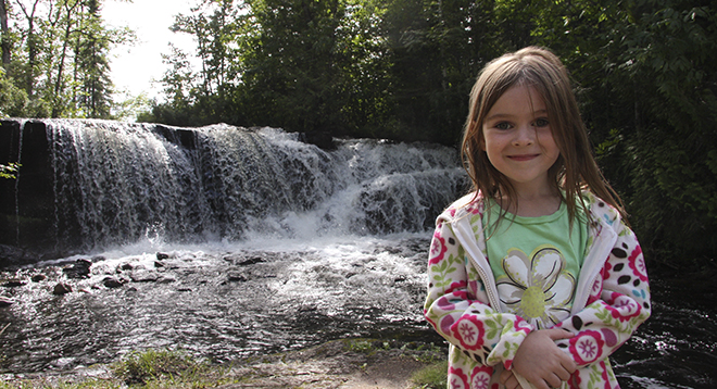 Raleigh Falls in Ignace, Ontario