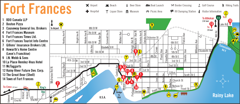 Fort Frances Town Map