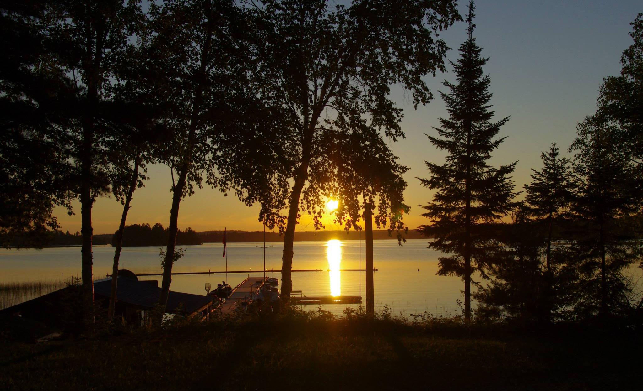 Sleepy Dog Cabins Sunset Country Ontario Canada