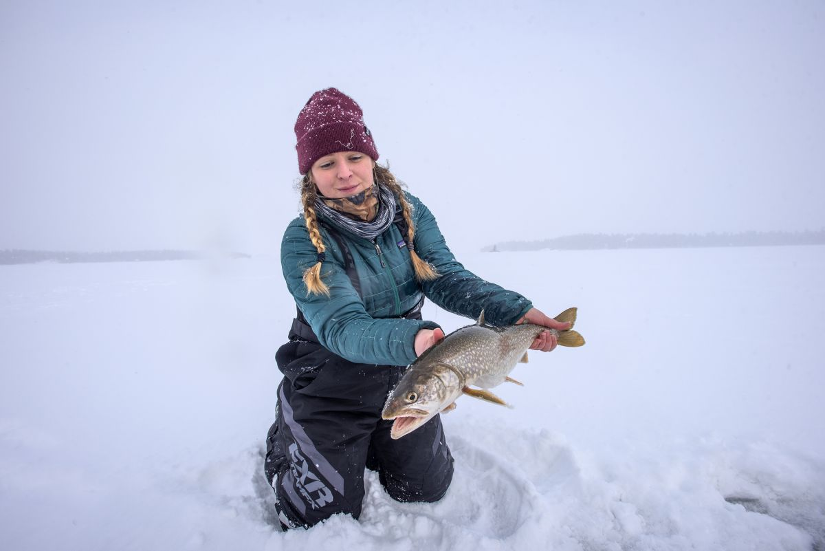 ICE FISHING FOR LAKE TROUT | Sunset Country, Ontario, Canada