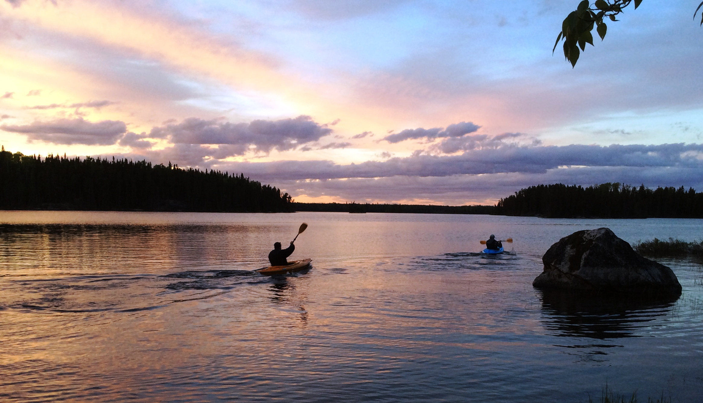 Woman River Camp Sunset Country Ontario Canada